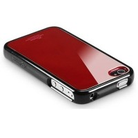 Пластиковый чехол SGP Linear Color Series Black/Red для Apple iPhone 4/4S