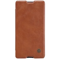 Кожаный чехол Nillkin Qin Leather Case Brown для Sony Xperia M5