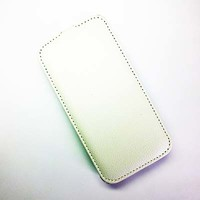 Кожаный чехол Armor Case White для Alcatel One Touch Idol Ultra 6033X