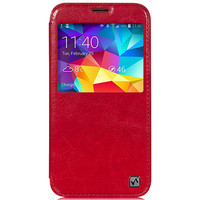 Кожаный чехол HOCO Crystal leather Case Red для Samsung G900F Galaxy S5