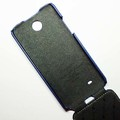 Кожаный чехол Melkco Leather Case Dark Blue LC для HTC Desire 300(#3)