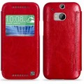 Кожаный чехол HOCO Crystal leather Case Red для HTC One M8(#1)