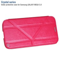 Кожаный чехол-книга HOCO Crystal leather Case Pink для Samsung i9150 Galaxy Mega 5.8