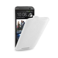 Кожаный чехол Melkco Leather Case White LC для HTC One M8