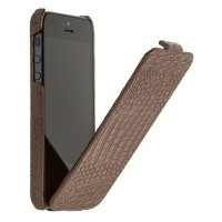 Кожаный чехол книга Borofone Crocodile flip Brown для Apple iPhone 5/5S/5SE