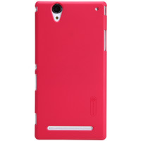 Пластиковый чехол Nillkin Super Frosted Shield Red для Sony Xperia T2 Ultra Dual