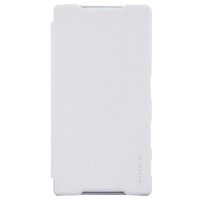 Полиуретановый чехол Nillkin Sparkle Leather Case White для Sony Xperia Z5