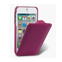 Кожаный чехол книга Melkco Leather Case Purple LC для Apple iPhone 5/5S/5SE