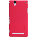 Пластиковый чехол Nillkin Super Frosted Shield Red для Sony Xperia T2 Ultra Dual(#1)