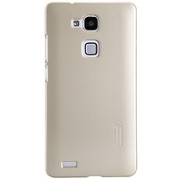 Пластиковый чехол Nillkin Super Frosted Shield Gold  для Huawei Ascend Mate7