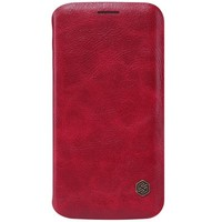 Кожаный чехол Nillkin Qin Leather Case Red для Samsung G925F Galaxy S6 Edge