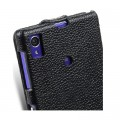 Кожаный чехол Melkco Leather Case Black LC для Sony Xperia Z1 L39h(#4)