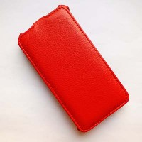 Кожаный чехол Armor Case Red для Alcatel One Touch Idol 2 6037B