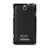 Силиконовый чехол Melkco Poly Jacket TPU Case Black для Sony Xperia E Dual C1605