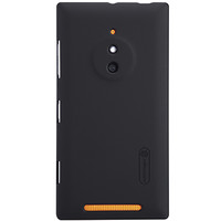 Пластиковый чехол Nillkin Super Frosted Shield Black  для Nokia Lumia 830