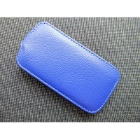 Кожаный чехол Up Case Blue для Samsung i8190 Galaxy S3 mini
