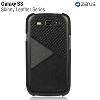Пластиковый чехол Zenus Skinny Leather Series Black для Samsung i9300 Galaxy S3