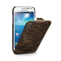 Кожаный чехол-книга TETDED Troyes Brown Snake для Samsung i9190 Galaxy S4 mini