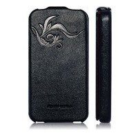 Кожаный чехол книга HOCO Leather Case Earl Fashion Black для Apple iPhone 4/4S