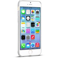 Пластиковый чехол HOCO Steel Double Series White для Apple iPhone 6 Plus/6s Plus