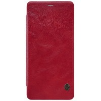 Кожаный чехол Nillkin Qin Leather Case Red (Красный) для Samsung A530F Galaxy A8 (2018)