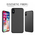 Пластиковый чехол Nillkin Synthetic Fiber Black (черный) для Apple iPhone X/ iPhone XS(#4)