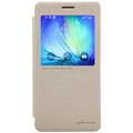 Полиуретановый чехол Nillkin Sparkle Leather Case Gold для Samsung Galaxy A7(#1)