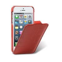 Кожаный чехол Melkco Leather Case Crocodile Red LC для Apple iPhone 5/5S/5SE