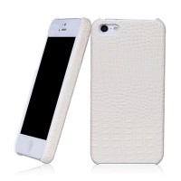 Кожаный чехол накладка Borofone Crocodile Series White для Apple iPhone 5/5S/5SE