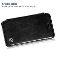 Кожаный чехол HOCO Crystal leather Case Black для Apple iPhone 4/4S