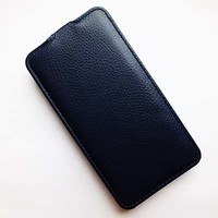 Кожаный чехол Armor Case Dark Blue для Explay Fresh