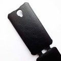 Кожаный чехол Armor Case Black для Alcatel One Touch Idol 2 6037B(#4)