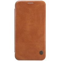 Кожаный чехол Nillkin Qin Leather Case Brown для Samsung Galaxy E7
