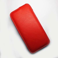Кожаный чехол Armor Case Red для Lenovo IdeaPhone A516