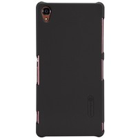 Пластиковый чехол Nillkin Super Frosted Shield Brown  для Sony Xperia Z3 D6603