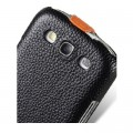 Кожаный чехол Melkco Leather Case Black/Orange LC для Samsung i9300 Galaxy S3(#4)