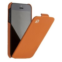 Кожаный чехол книга HOCO Duke Leather Case Orange для Apple iPhone 5/5S/5SE