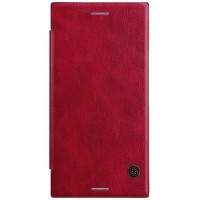 Кожаный чехол Nillkin Qin Leather Case Red для Sony Xperia XZ Premium