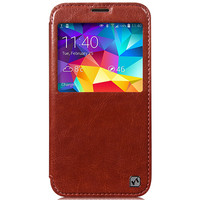 Кожаный чехол HOCO Crystal leather Case Brown для Samsung G900F Galaxy S5