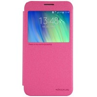 Полиуретановый чехол Nillkin Sparkle Leather Case Red для Samsung Galaxy E7