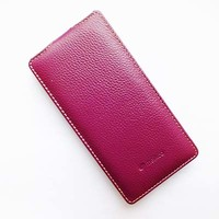 Кожаный чехол Melkco Leather Case Purple LC для Sony Xperia Z3 D6603