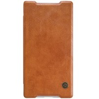Кожаный чехол Nillkin Qin Leather Case Brown для Sony Xperia Z5