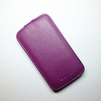 Кожаный чехол Armor Case Purple для Samsung i8262 Galaxy Core