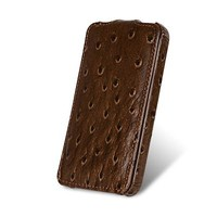 Чехол Melkco Leather Case Ostrich Pattern Brown для Samsung i9100 Galaxy S2