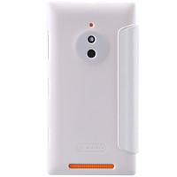 Полиуретановый чехол Nillkin Sparkle Leather Case White  для Nokia Lumia 830