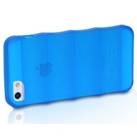 Силиконовый чехол HOCO Cool Bamboo Crystal Case Blue для Apple iPhone 5/5S/5SE