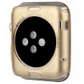 Силиконовый чехол Baseus TPU Case Gold для Apple Watch 42mm\Watch Series 2 42mm(#2)
