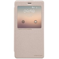 Полиуретановый чехол Nillkin Sparkle Leather Case Gold для Xiaomi Mi Note