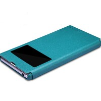 Полиуретановый чехол Nillkin Sparkle Leather Case Ocean для Sony Xperia Z1 L39h