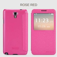 Полиуретановый чехол Nillkin Sparkle Leather Case Rose для Samsung N7505 Galaxy Note 3 Neo Dual